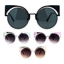 SA106 Unique Runway Round Circle Lens Cateye Goth Sunglasses - $12.95