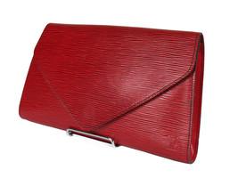 LOUIS VUITTON Arts Deco Epi Leather Red Pochette Clutch Bag LP3497 - $279.00