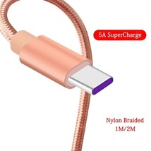 1M/2M HUAWEI Supercharge Cable 5A USB 3.1 TYPE C Fast Charger Data Cable... - $7.16+