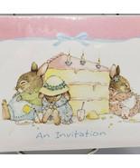 Andrew Brownsword Bunny Rabbit Birthday Party Invitations Hallmark packa... - $15.00