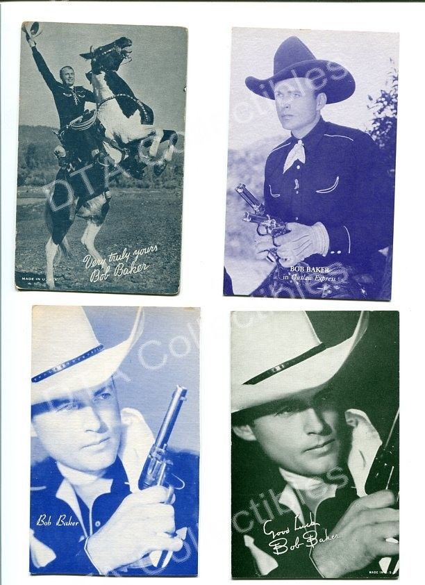 Primary image for BOB BAKER 4 ARCADE CARD LOT-OUTLAW EXPRESS!! FN