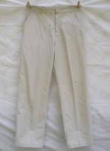 Ralph Lauren Khaki Pants Nylon/Cotton Trousers GUC Size 4 Mid-Rise Tapered Leg - $11.88