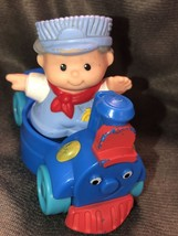 Fisher Price Little People Train Set Lot Conductor Htf Rare - $21.28