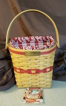 Longaberger 1998 Christmas Collection GLAD TIDINGS Basket Fabric Liner P... - $19.95