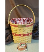 Longaberger 1998 Christmas Collection GLAD TIDINGS Basket Fabric Liner P... - $19.95