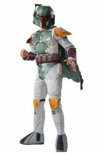 New Child Star Wars Boba Fett Boy Medium Kids Dress Up Halloween Costume Age 5-7