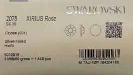 HOTFIX 20ss Crystal CLEAR 1440 SWAROVSKI #2078 XIRIUS Rose Flatback Rhin... - $91.08