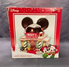 Department 56 Mickey's Holiday Center Merry Christmas Tested Working w/ Box - $97.49