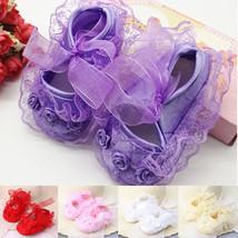 Prewalker Flower Crib Infant Baby Shoes Socks Smart Girls 3-12m Sole New... - $5.40