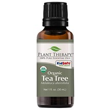 Plant Therapy Tea Tree Organic Essential Oil | 100% Pure, USDA Certified Organic