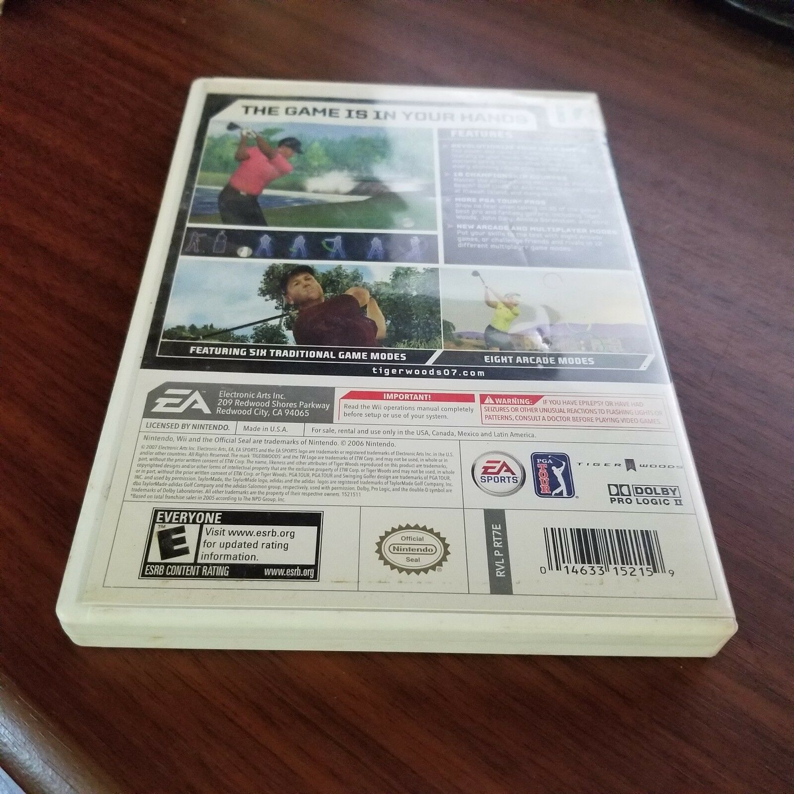 Tiger Woods PGA Tour 07 (Nintendo Wii, 2007) Complete CIB image 2