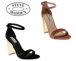 Ladies Steve Madden Carrson Velvet Sandals - $57.01