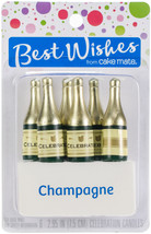 Best Wishes By Cake Mate Birthday Candles Champagne Bottles - $14.60