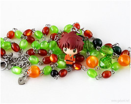 CG Suzaku Beaded Necklace, Anime Jewelry, Kawaii, OOAK, Handmade - $41.00