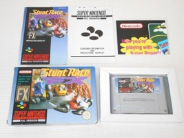 Nintendo STUNT RACE FX SNES Overseas ed. TV game with box & Instruction ... - $439.98