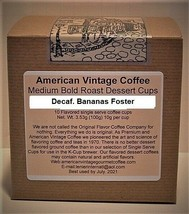 Decaf. Bananas Foster flavored Dessert Coffee Medium Roast 10 K-Cups - $10.41