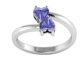 Heart Shape Tanzanite Gemstone 925 Sterling Silver Love Women Ring - $18.87
