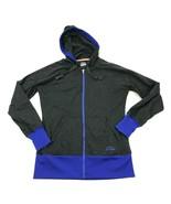 FILA Full Zip Hoodie Sweater Women's Size Small S Charcoal Gray Lightwei... - $21.87