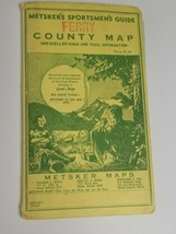 Vintage Metskers Ferry County Map Guide Road & Trail Information  - $19.79