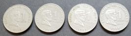 4 Philippine 1 Piso Coins Jose Rizal / Bangko Sentral Ng Pilipinas  - $5.95