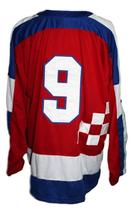 Any Name Number Croatia Hrvatska Retro Hockey Jersey New Sewn Red Any Size image 2