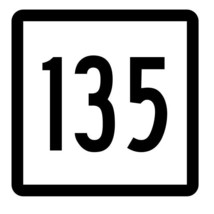 Connecticut State Highway 135 Sticker Decal R5150 Highway Route Sign - $1.45+
