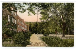 St Mary's College Dormitory Orchard Lake Michigan hand colored postcard - $6.39