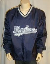 HARLEM Jacket Mens X-Large New York Basketball Hoops Blue Nylon Pullover... - $21.95