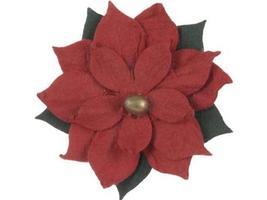 Paper Crafts-12m Pcs Red Poinsettia Embellishments