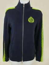 Lauren Ralph Lauren Active Navy Blue Cotton Track Jacket Size S Women's - $34.64