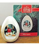 Hallmark Keepsake Ornament 1991 Winter Surprise 3rd in Series Penguin Ca... - $8.90
