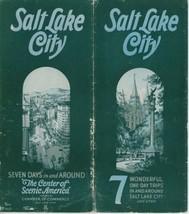 1929 Salt Lake City Utah Travel Brochure Tours Zion Bryce Grand Canyon UT - $15.00