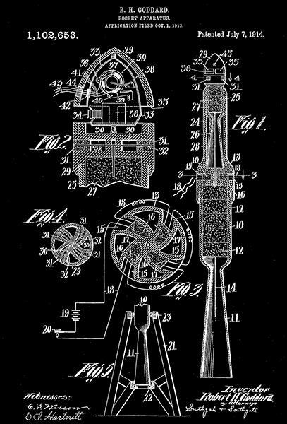 Primary image for 1914 - Rocket Apparatus - R. H. Goddard - Patent Art Poster