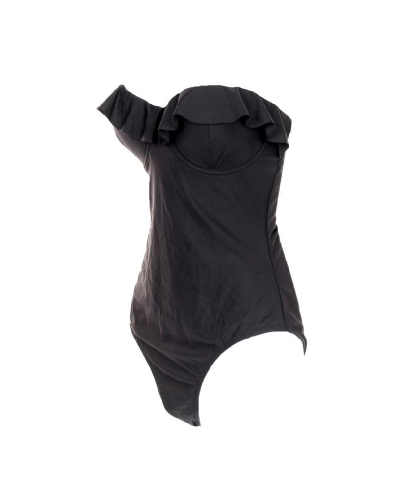 0d0cb4ab3cc ... J Crew Ruffle Underwire One Piece Swimsuit Bathing Suit Swim Black  G1736 0 ...