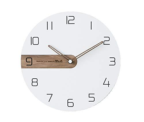 Moro Design Real Wood Nine Wall Clock Non Ticking Silent Quartz Decorative Moder