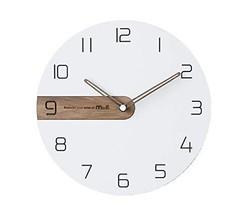 Moro Design Real Wood Nine Wall Clock Non Ticking Silent Quartz Decorative Moder