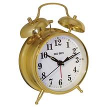 Westclox Twin Bell Alarm Clock Quartz Movement Analog Display Metal Case... - $24.68