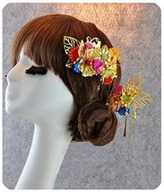 Hnad Made-Amazing Traditional Chinese Wedding Twin Bliss Hair Comb - $31.18