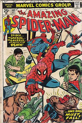 1974 Marvel Comics Group The Amazing Spiderman #140