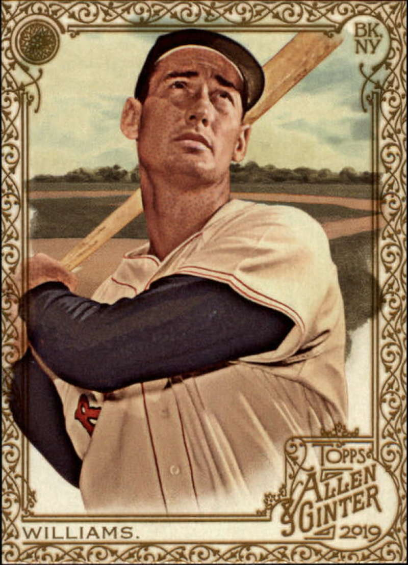 Primary image for 2019 Topps Allen and Ginter Gold Hot Box #98 Ted Williams Red Sox