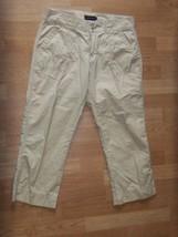 Womens Sz 8 Calvin Klein J EAN S Lightweight Khaki Tan Cropped Pants WX2225 - $12.60