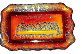Amber Last Supper TrayAA18-1322 Vintage image 1