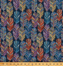 Feathers Catching Dreams Southwestern Blue Cotton Fabric Print by Yard D... - $11.95