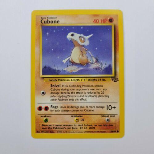 Pokemon Jungle Cubone LP 50/64 TCG Trading Card Game 1999 Unlimited - $0.99
