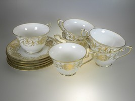 Royal Worcester Pompadour 6 Cups & 5 Saucers - $62.32