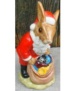 Royal Doulton SANTA BUNNYKINS Happy Christmas England Bunny Rabbit - $38.00