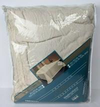Vtg NOS Beacon American Softwear Bedspread Cotton Cream Medallion Full 9... - $59.40