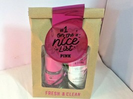 Victoria's Secret PINK FRESH & CLEAN Body Mist & Lotion Gift Set - $11.99