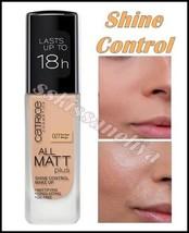 Catrice All Matt Plus Shine Control 027 Amber Beige Foundation Long Last... - $18.79
