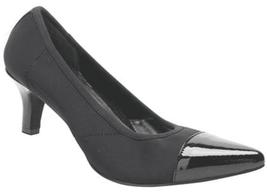 Ros Hommerson Women's Keisha Pumps Heels 6WW Black Cap Toe Shoes NWB P - $19.27